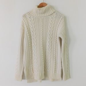 Ann Taylor Women's Turtleneck Cable Knit Sweater